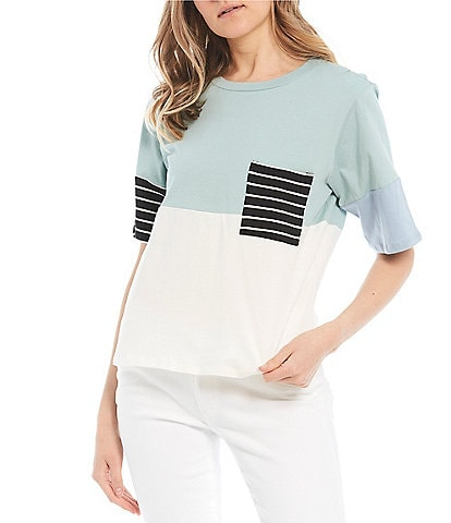 Love On A Hanger Colorblock Pocket Tee