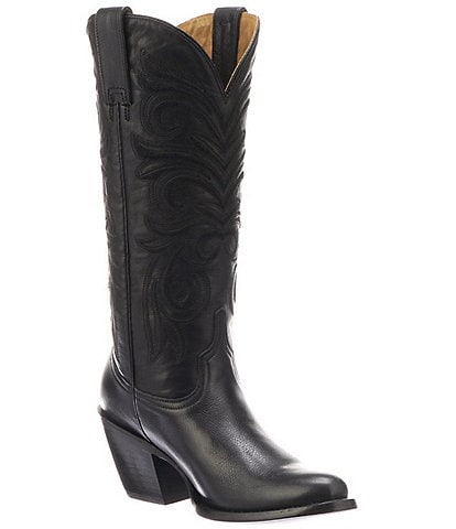 Lucchese Laurelie Leather Block Heel Western Boots