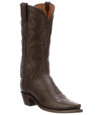 Lucchese Nicole Corded Leather Western Boots