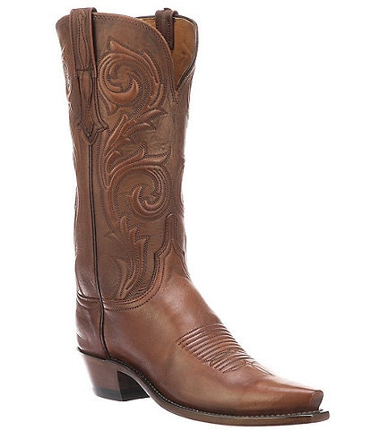 Lucchese Nicole Leather Embossed Western Boots