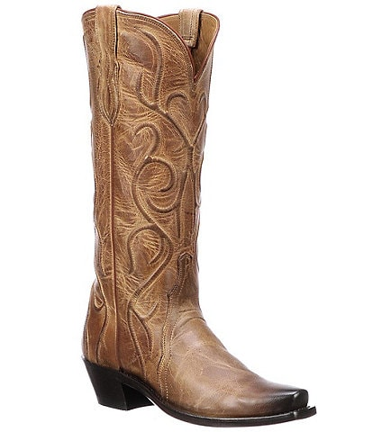 Lucchese Patsy Corded Leather Western Boots