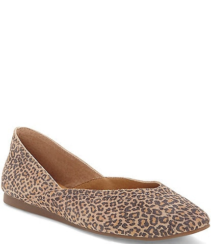 Lucky Brand Alba Leopard Print Leather Flats