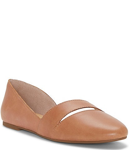 Lucky Brand Ashena Leather Cut Out d'Orsay Flats