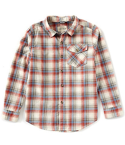 Lucky Brand Big Boys 8-20 Drake Plaid Long Sleeve Button Down Shirt