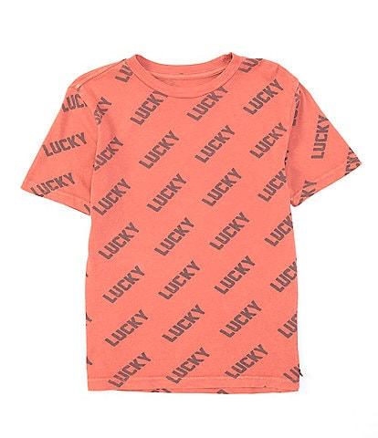 Lucky Brand Big Boys 8-20 Short Sleeve Just Lucky Tee
