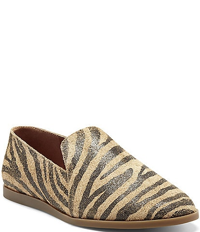 Lucky Brand Brazio Tiger Print Suede Loafers