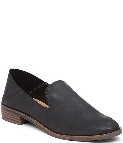 Lucky Brand Cahill Leather Block Heel Dress Flats