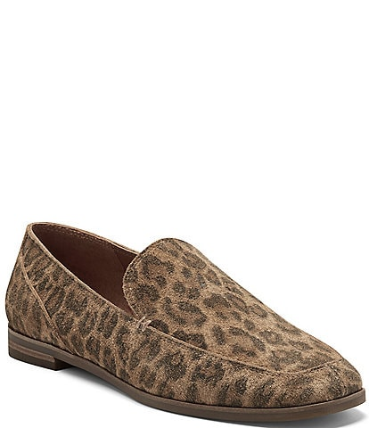 Lucky Brand Canyen Leopard Printed Suede Loafers