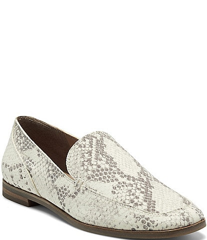 Lucky Brand Canyen Snake Print Leather Loafers