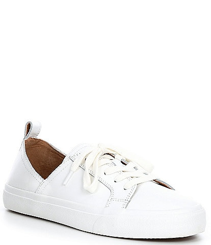 Lucky Brand Dansbey Leather Side Dip Lace-Up Sneakers