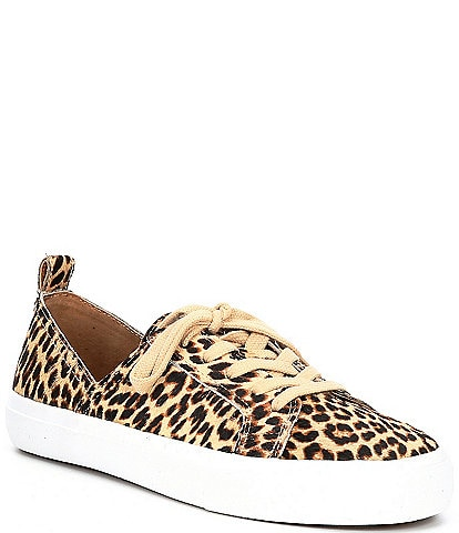 Lucky Brand Dansbey2 Leopard Print Haircalf Side Dip Sneakers