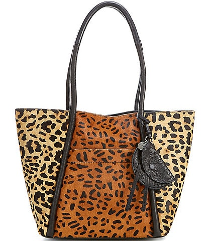 Lucky Brand Dayn Leopard Haircalf and Leather Tote Bag