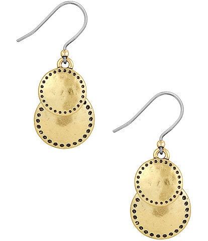 Lucky Brand Double-Drop Earrings