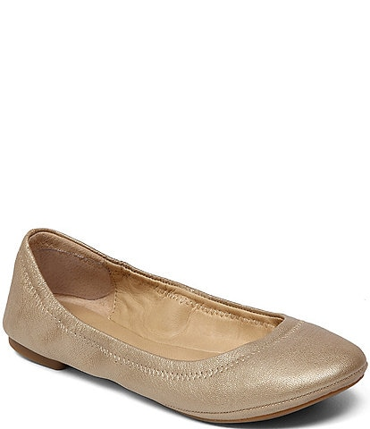 Lucky Brand Emmie Metallic Leather Ballet Flats