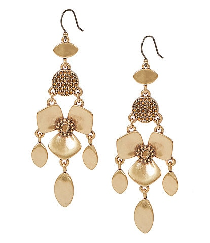Lucky Brand Floral Statement Earrings