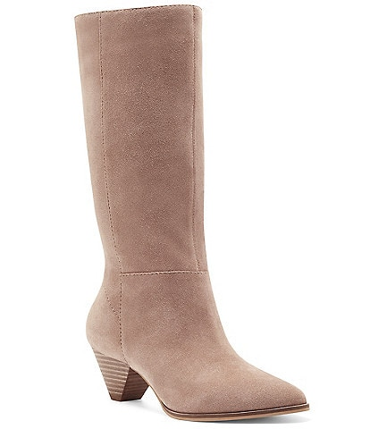 Lucky Brand Fukko Suede Slouch Boots