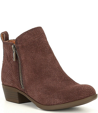 Lucky Brand Girls' Basel Suede Almond Toe Booties (Toddler)
