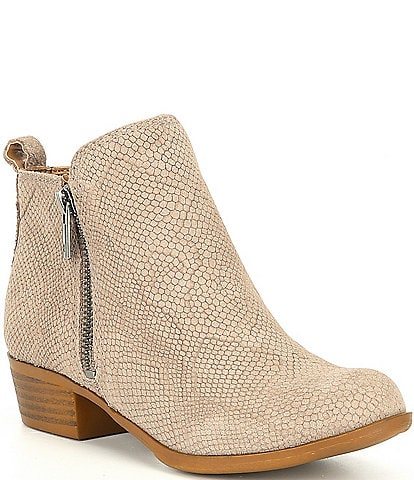 Lucky Brand Girls' Basel Suede Almond Toe Booties (Youth)