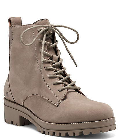 Lucky Brand Haddley Lace-up Nubuck Lug Sole Boots