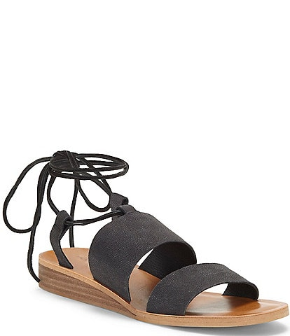 Lucky Brand Hadesha Suede Ankle Wrap Sandals