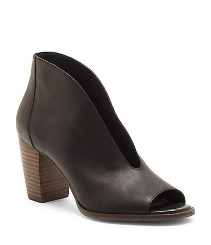 cb217499518 Lucky Brand Joal Leather Block Heel Shooties