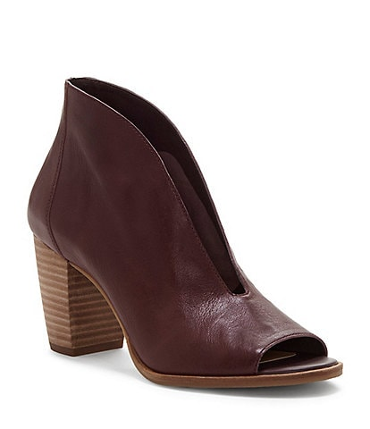 Lucky Brand Joal Leather Block Heel Shooties