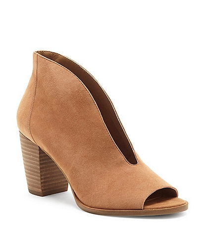 Lucky Brand Joal Suede Block Heel Shooties