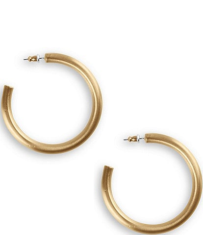 Lucky Brand Large Tubular Hoop Earrings