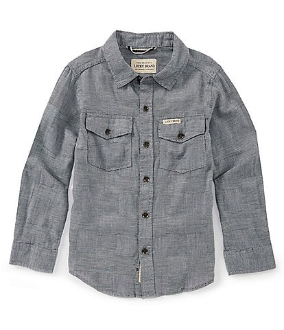 Lucky Brand Little Boys 4-7 Long-Sleeve Plaid Woven Shirt