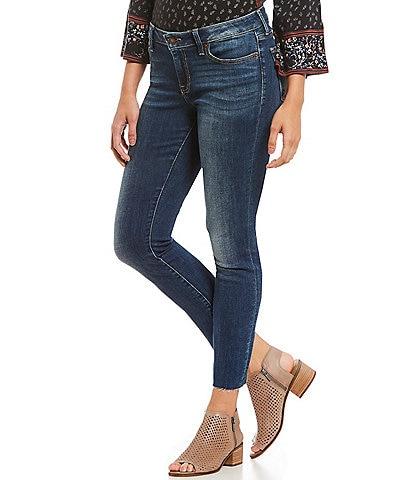 Lucky Brand Lolita Mid Rise Raw Hem Skinny Jeans