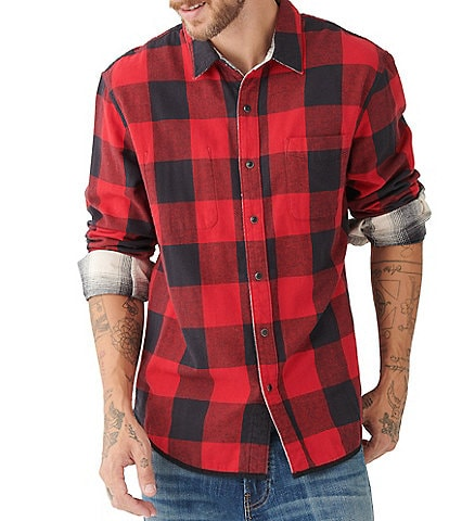 Lucky Brand Long-Sleeve Checked Plaid Reversible Shirt Jacket
