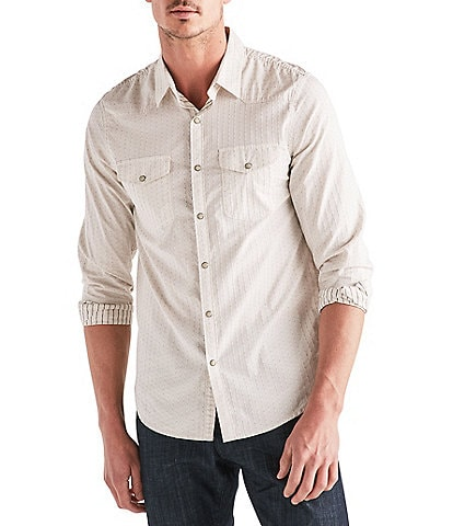 Lucky Brand Long-Sleeve Dobby Western Snap Front Shirt