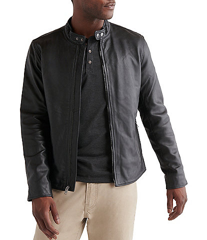 Lucky Brand Long-Sleeve Leather Jacket
