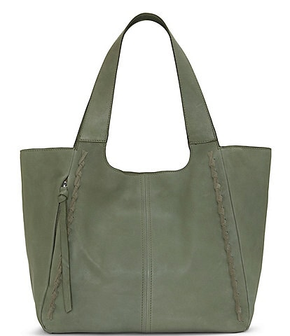 Lucky Brand Lyia Leather and Suede Snap Tote Bag
