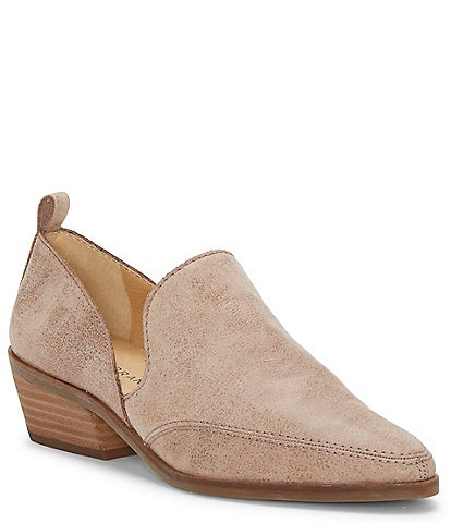 Lucky Brand Mahzan Leather Side Slit Pointed Toe Loafers