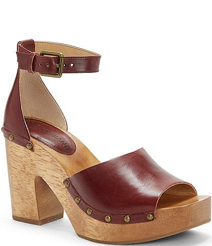 Lucky Brand Nelora Leather Ankle Strap Dress Sandals