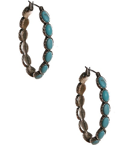 Lucky Brand Oblong Hoop Earrings