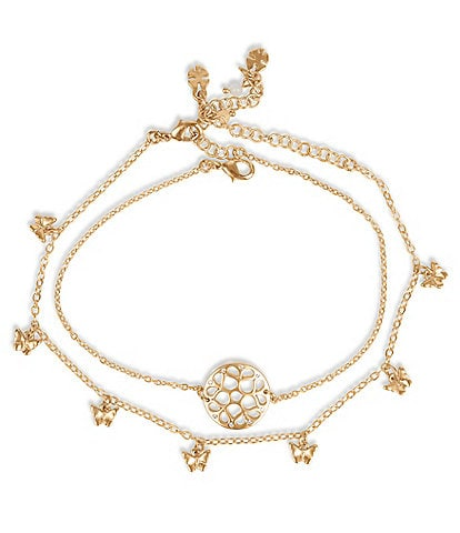 Lucky Brand Openwork Anklet Set