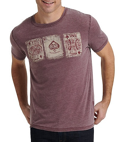 Lucky Brand Poker Cards Graphic Short-Sleeve T-Shirt