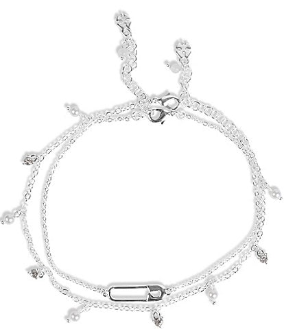 Lucky Brand Safety Pin Anklet