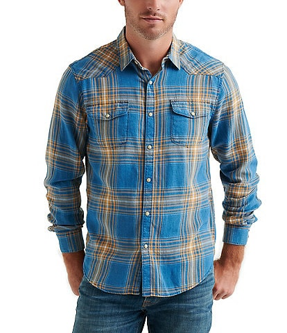 Lucky Brand Santa Fe Twill Long-Sleeve Snap-Front Western Shirt