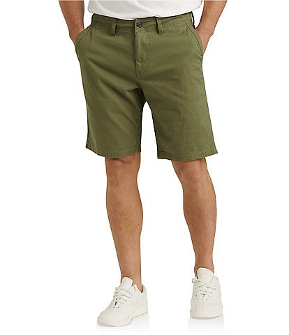 Lucky Brand Saturday Stretch Classic Fit Flat-Front Twill 10#double; Inseam Shorts