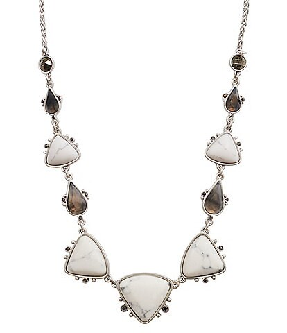 Lucky Brand Set Stone Collar Necklace