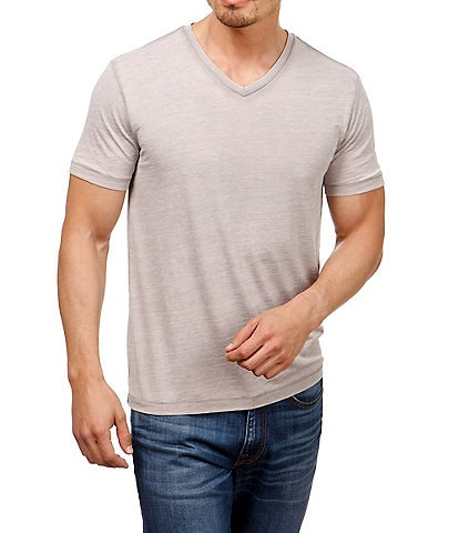 Lucky Brand Short-Sleeve Burnout V-neck T-Shirt