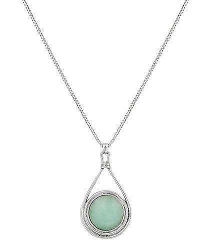 Lucky Brand Stone Pendant Necklace