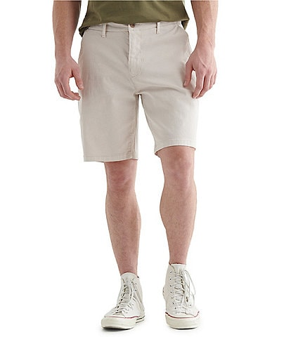 Lucky Brand Stretch Flat Front 9#double; Inseam Shorts