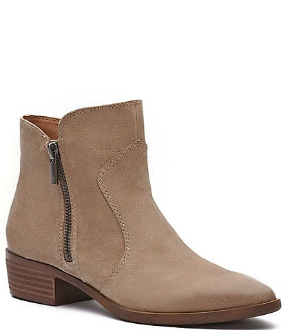 Lucky Brand Tayti Leather Side Zip Booties