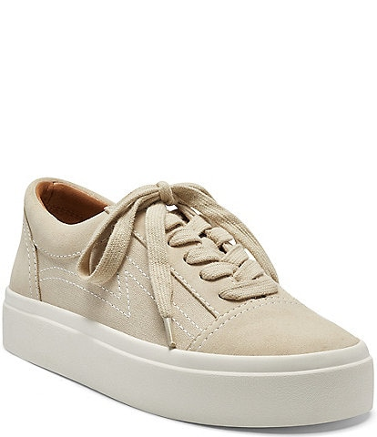 Lucky Brand Tezra Suede Canvas Lace-Up Sneakers