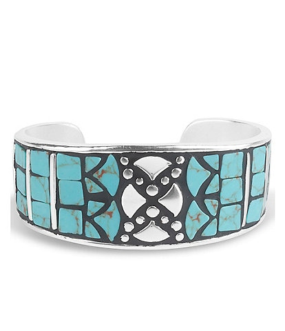 Lucky Brand Turquoise Inlay Cuff Bracelet