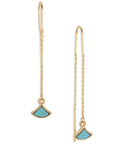 Lucky Brand Turquoise Inlay Threader Earrings